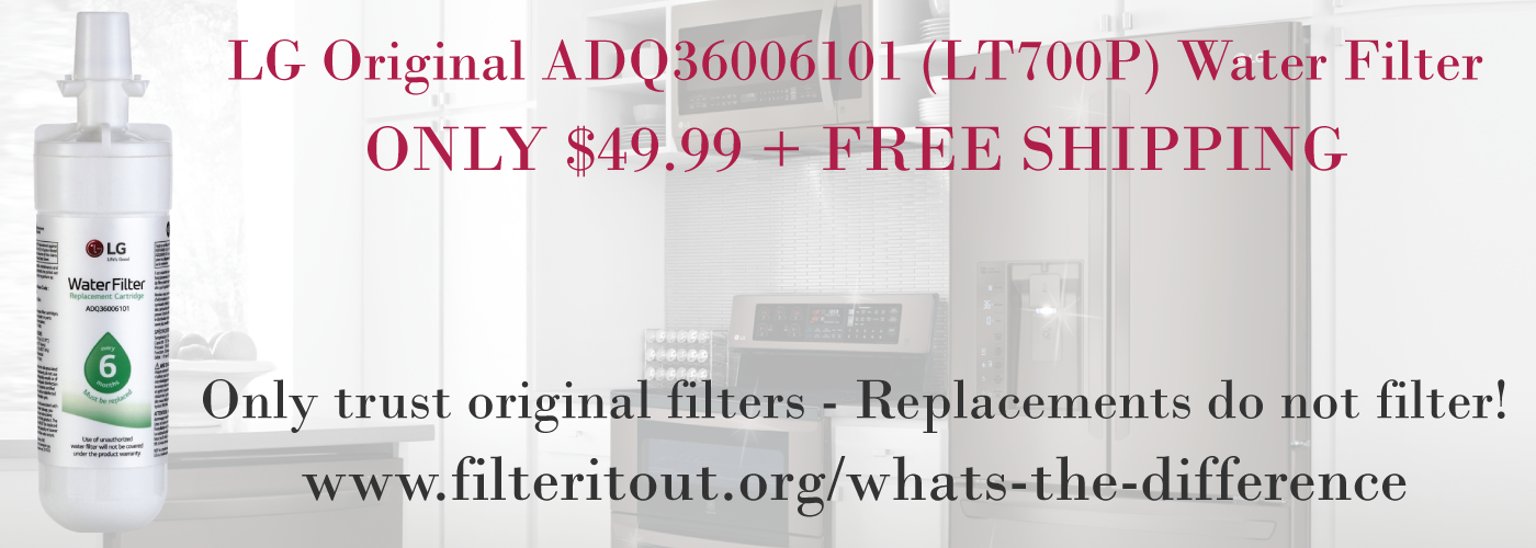 LG ADQ36006101 (LT700P) - Original Water Filter. Only buy original water filters!