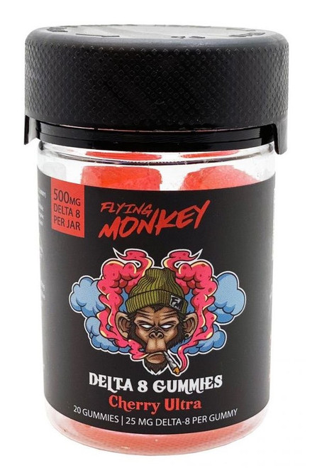 Flying Monkey Delta 8 Gummies 500MG - Cherry Ultra