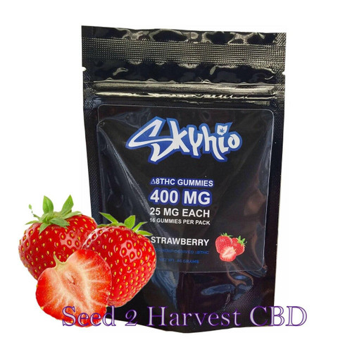 Skyhio Skyhio Delta 8 Gummies Strawberry Flavor - 400MG