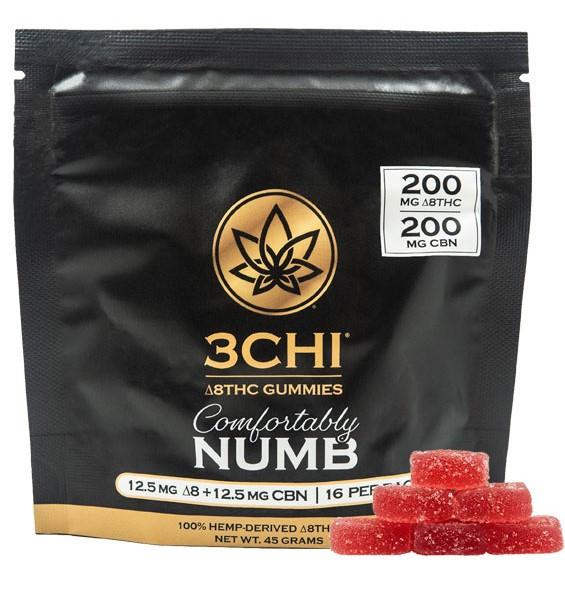 3CHI Comfortably Numb Delta 8 THC:CBN Gummies 16ct