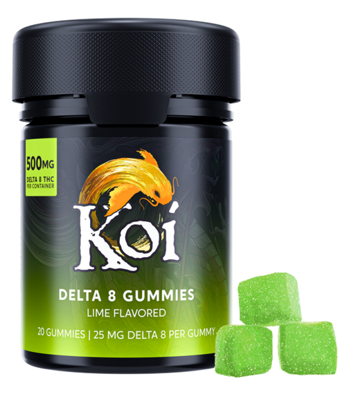 Koi Delta 8 THC Gummies - Lime Flavored - 500MG - 20 Count