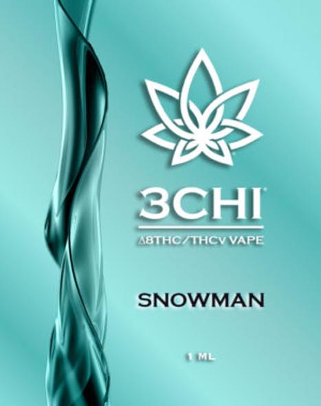 3CHI THCv Vape Cartridge Snowman 1mL
