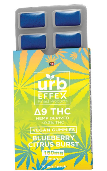 Delta Effex Blueberry Citrus Burst Delta 9 THC Gummies - 15MG