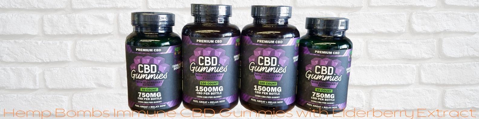 Hemp Bombs Immunity CBD Gummies with Elderberry Extract