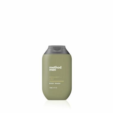 bergamot + lime travel body wash, 3.4 fl oz-3