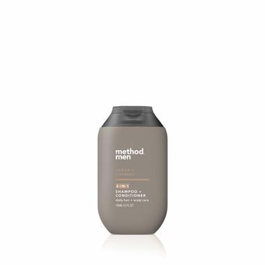 cedar + cypress travel 2-in-1 shampoo + conditioner, 3.4 fl oz-1