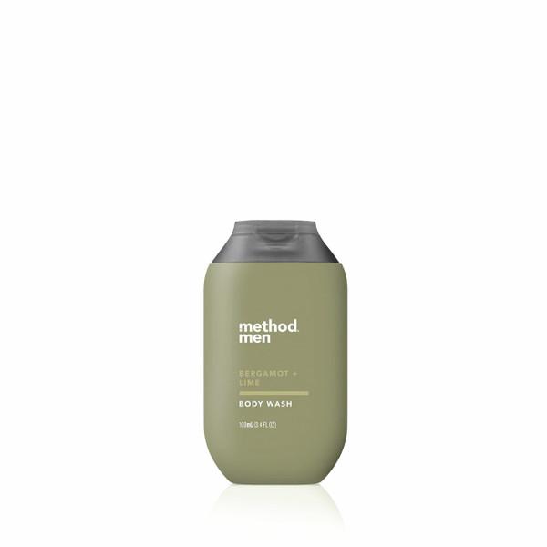 bergamot + lime travel body wash, 3.4 fl oz-