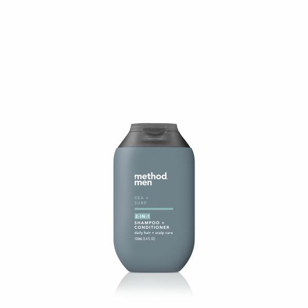 sea + surf travel 2-in-1 shampoo + conditioner, 3.4 fl oz-