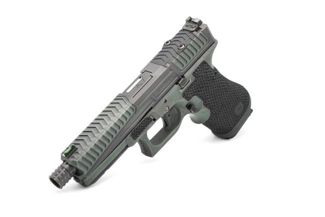 Green/Maroon Battleworn/RMR/BCT |  G17c/G3