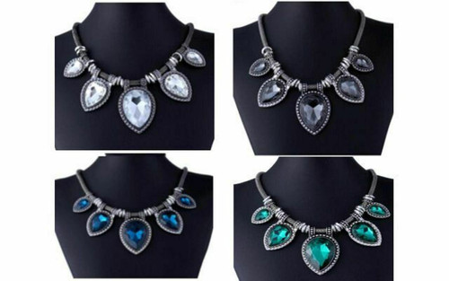 Fashion Exaggerated Restoring Ancient Gemstone Necklace (JW2042)