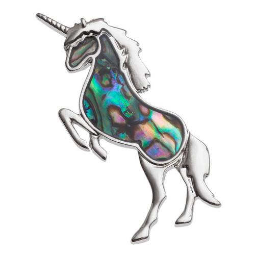 Tide Jewellery inlaid Paua shell unicorn brooch
