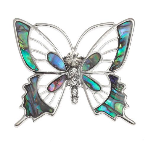 Tide Jewellery inlaid Paua shell Butterfly brooch