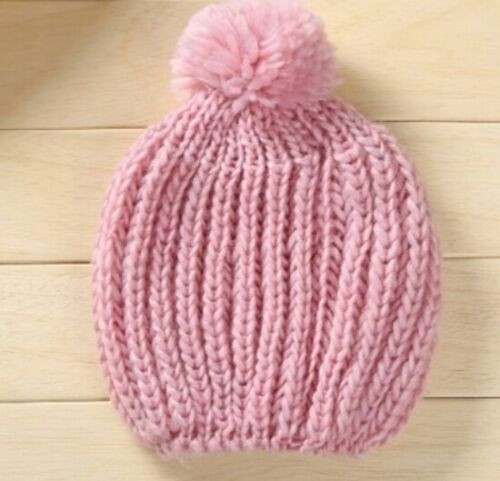 Fashion Women Lady Wooly Knitted Beanie Warm Winter pink Hat