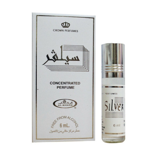 Al-Rehab Silver Roll On Perfume Oil - 6ml (Without Retail Box)