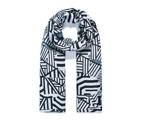 Grey Zebra Group Print Scarf