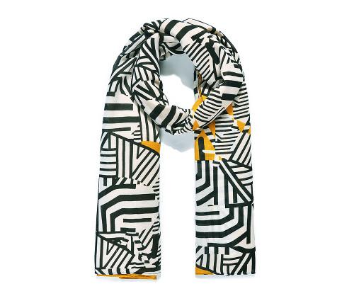 Ochre Zebra Group Print Scarf