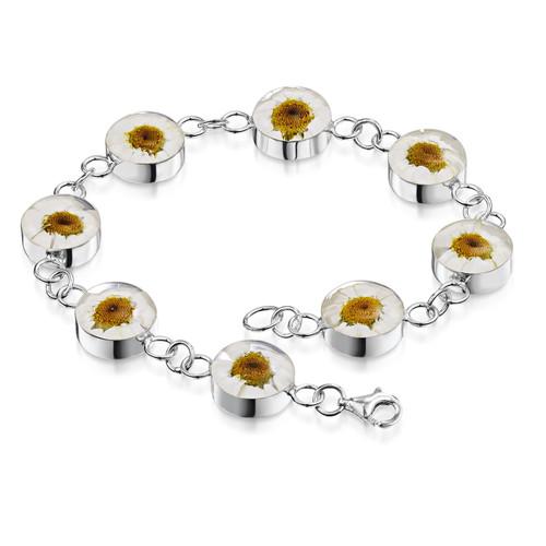925 Silver Bracelet - Daisy - Large Round