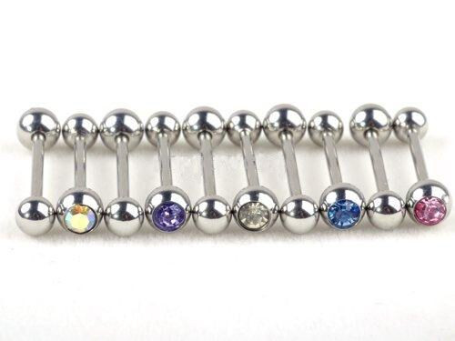 316L Surgical Body Jewellry Steel Rhinestone for Belly, Rings, Tongue and Lip