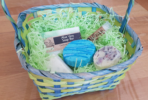 Green and Yellow Gift Basket