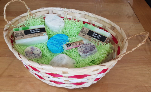 Ivory and Red Gift Basket