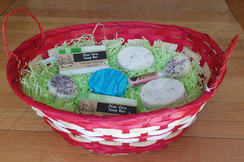 Red and White Gift Basket