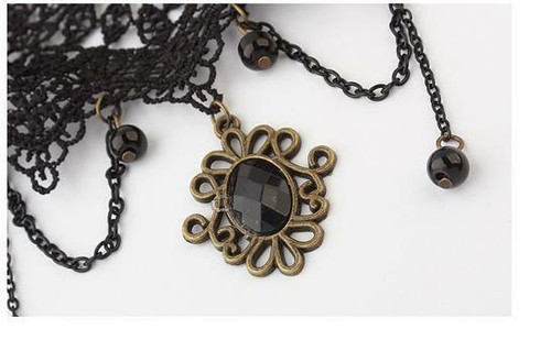 Fashion Lace Copper Necklace Statement Choker Necklace (JW2044)