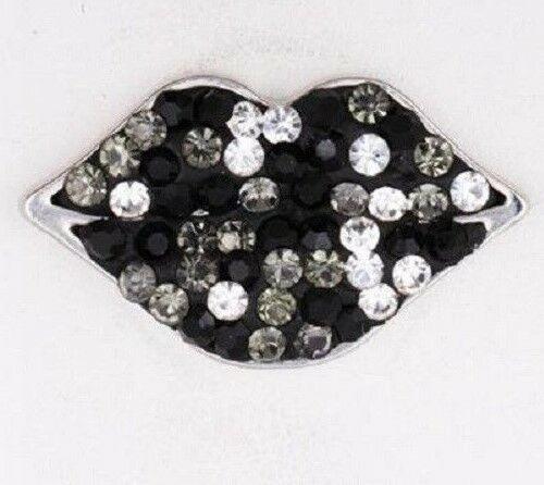 Noosa Diamond Lips Snap Button