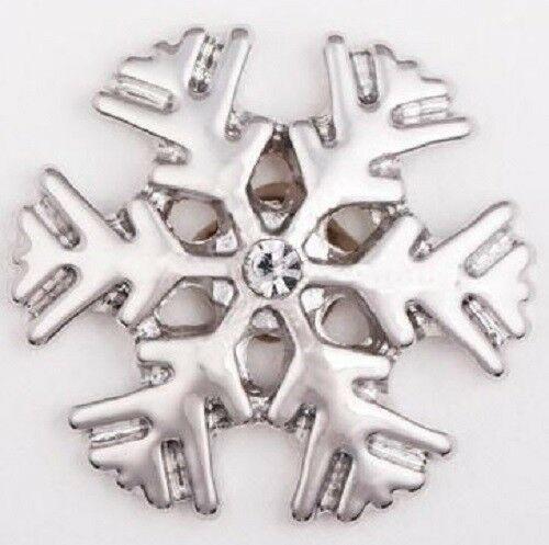 Noosa Snow Flake Chunk Snap Button