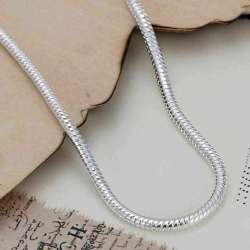 Unisex Fashion Jewelry 925 Silver Plated Snake Bracelet