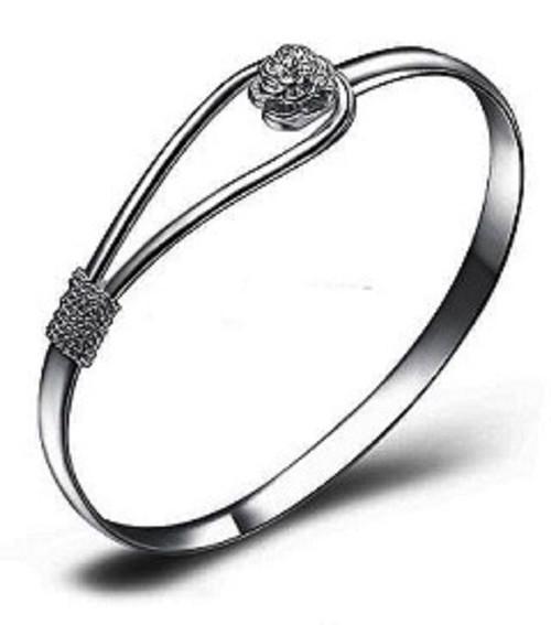 Ladies Cuff Bangles Bracelet 925 Silver