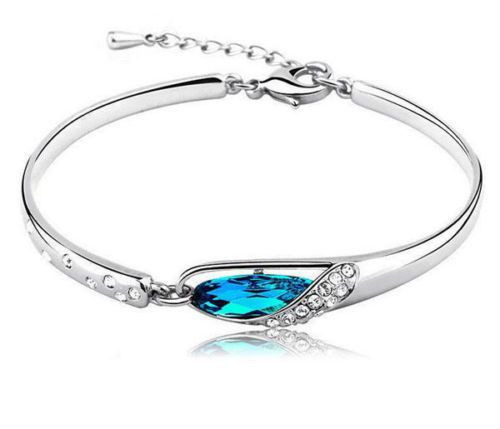 Luxurious Bangle Bracelet Silver Plated