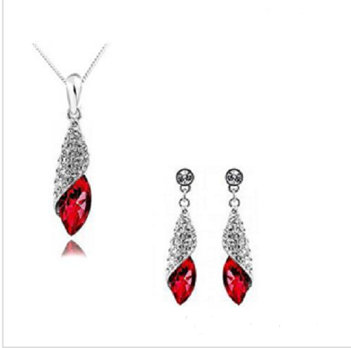 Austria Diamond Crystal Necklace & Earrings Set