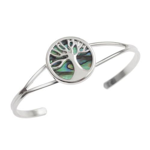 Tide Jewellery inlaid Paua shell Tree of Life bangle