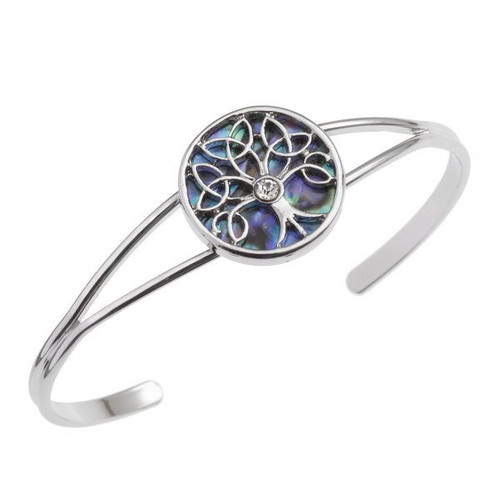 Tide Jewellery inlaid Paua shell Celtic Tree of Life bangle
