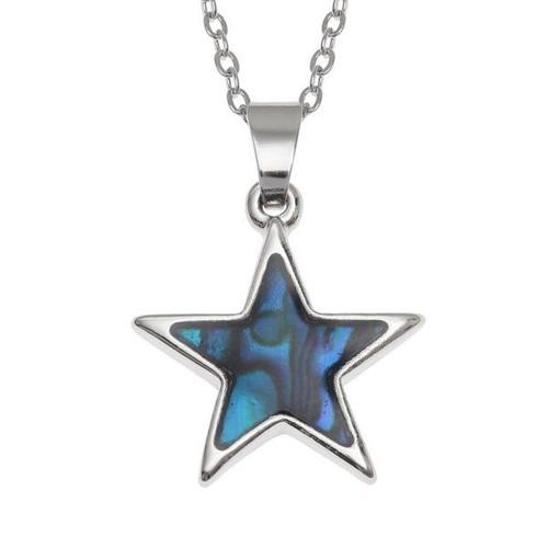 Tide Jewellery inlaid blue Paua shell Star pendant