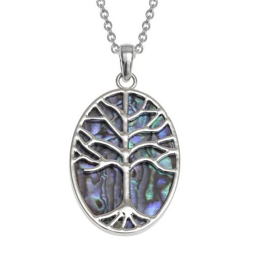 Tide Jewellery inlaid Paua shell Tree of Life large pendant