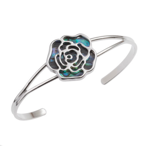 Tide Jewellery inlaid Paua shell rose bangle