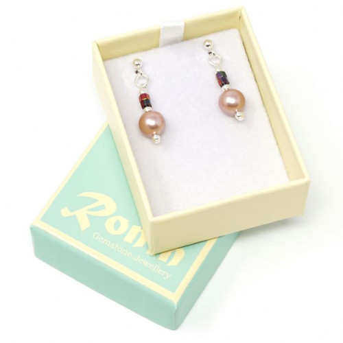 Orchid Handmade South Sea Shell Pearl Beads Earrings