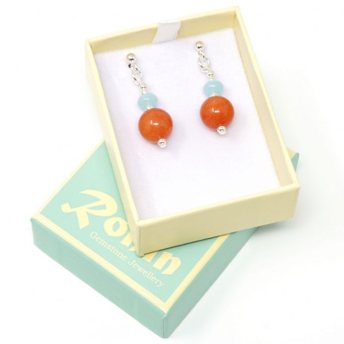 Emma Handmade Mixed Colour Gemstone Earrings