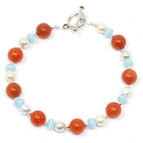 Emma Handmade Mixed Colour Gemstone Bracelet