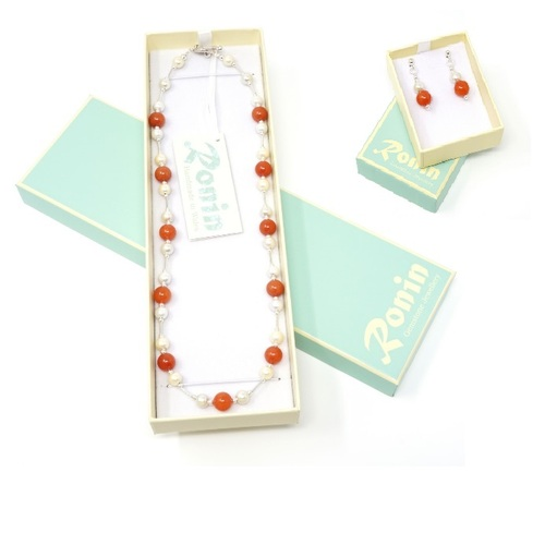 Emma Handmade Multiple Colour Gemstone Necklace & Earring Set