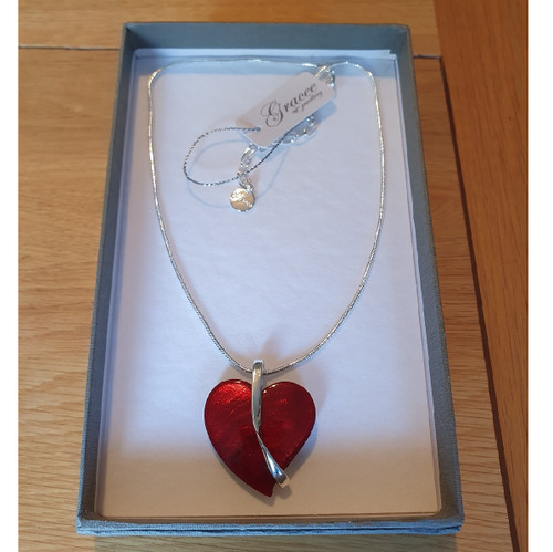Red Heart Necklace with Gift box