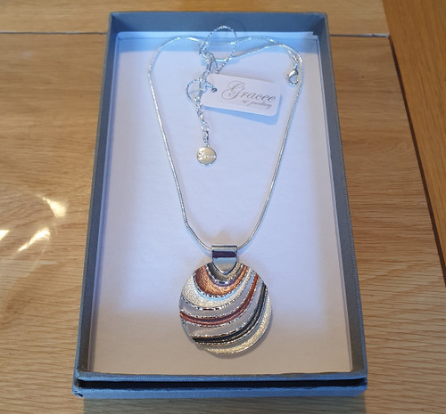 Round Waves Necklace with Gift box