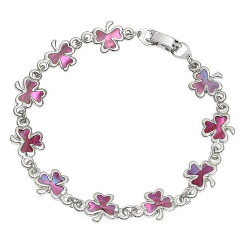 Tide Jewellery inlaid Paua shell Shamrock bracelet