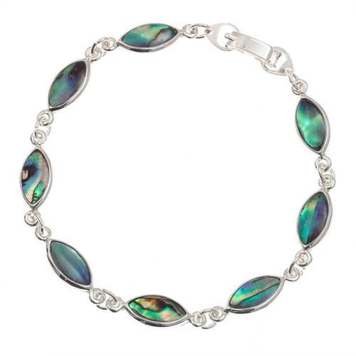 Tide Jewellery inlaid Paua shell oval section bracelet