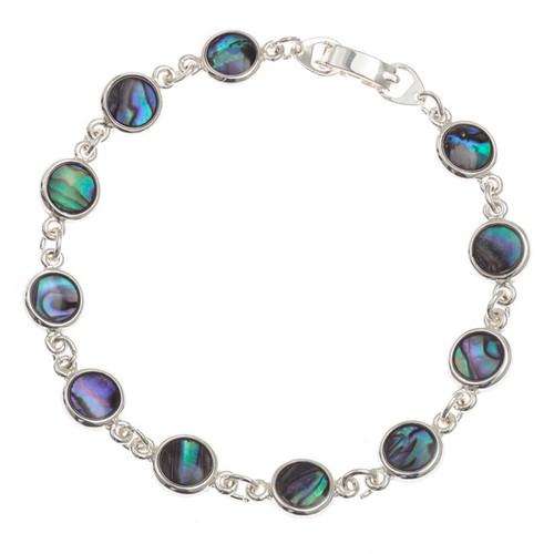 Tide Jewellery inlaid Paua shell round section bracelet