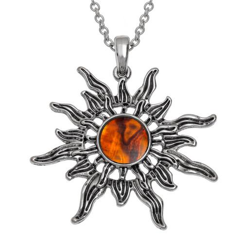 Tide Jewellery inlaid Paua shell  Sunburst Pendent