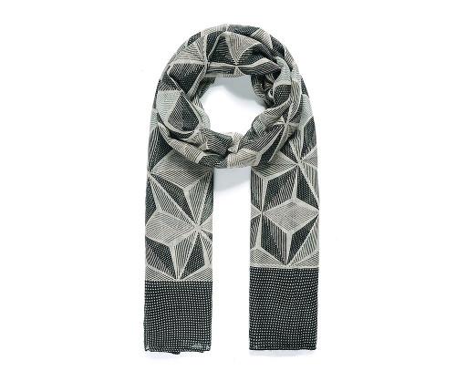 Black tessellating geometric scarf