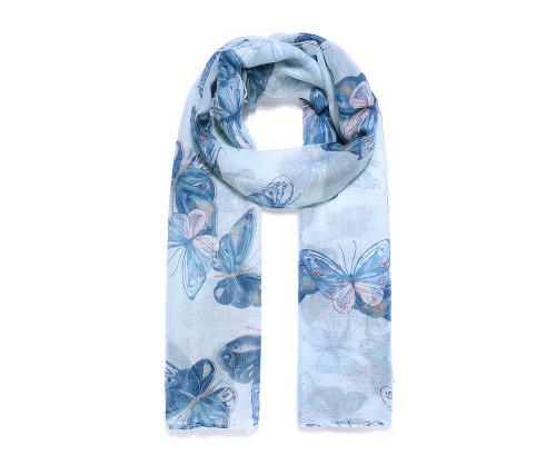 Blue butterfly dance scarf