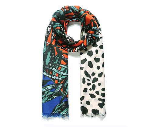 Blue/orange jungle scarf